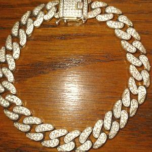 6'-7' Anker Mens  Bracelet stamped 925 weighs 37gz